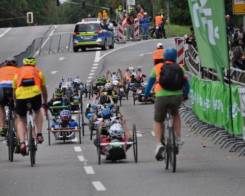 Handbike Rennen beim Radklassiker in Eschborn-Frankfurt